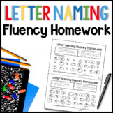 Letter Naming Fluency Homework (RTI for Kindergarten)