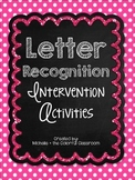 Letter Recognition Intervention Activities {ELA RTI}