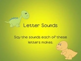 Letter Sounds - Power Point, Dinosaur Theme