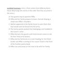 Letters From Rifka Jumbled Summary activity
