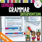 Leveled Grammar Intervention