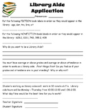 Library Aide Form
