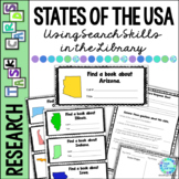 Library Task Cards: Social Studies: States of the USA