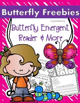 Life Cycle of a Butterfly FREEBIE Emergent Reader & Printables