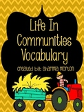 Life In Communities Vocabulary