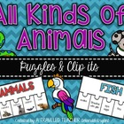 Life Science - All Kinds of Animals Puzzles & Clip Its