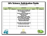 Life Science Anticipation Guide