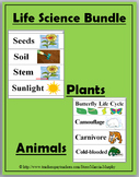 Life Science Word Wall Cards Bundle - (Plants and Animals)