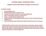 Speech Therapy Life Skills Activity: Identification Cards