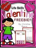 Life Skills Valentine Freebie (Autism; special ed)