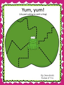 Lily Pad Cutting (prewriting activity)