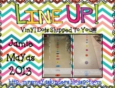 Line Up Vinyl Dots Set {1-20} Hot Colors