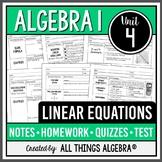 Linear Equations: Algebra 1 (Unit 4)