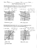 Linear Transformations Day 1 Homework ANSWER KEY