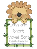 Lion Long vowel and short vowel word sort