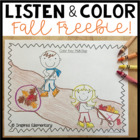 Listen and Color Fall FREEBIE: A Listening Comprehension A