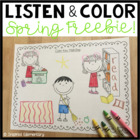 Listen and Color Spring FREEBIE: A Listening Comprehension