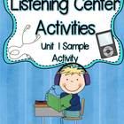 Listening Center Activity FREE: Dictation ~ Short a CVC wo
