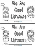Listening Emergent Reader Kindergarten or 1st Grade- Rules