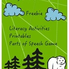 """Literacy Printables """"We're Going on a Bear Hunt"""""""
