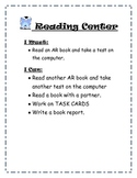 Literacy Center Activity Cards