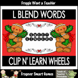 "Literacy Center--L Blends Words Clip n' Learn Wheels ""Swee"