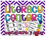 Literacy Center Match Ups: 3 Sets