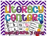 Literacy Center Match Ups: 3 Sets