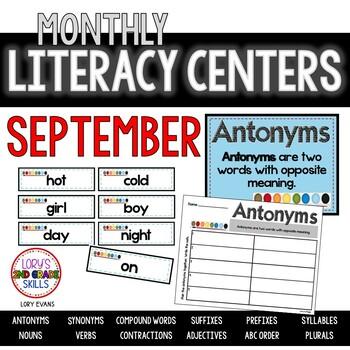 Literacy Centers- SEPTEMBER