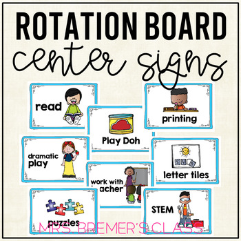 Literacy Centre/Center Activity Signs