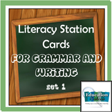 Literacy Station Activity Cards for Grammar or Writing - Set 1