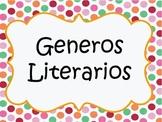 Literary Genres Spanish posters / Generos Literarios en es