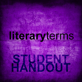 Literary Terms Student Handout