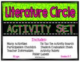 Literature Circle Activity Set-Complete w/ activities, dir
