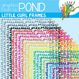 Frames / Borders - Little Curls - Commercial Use Clipart