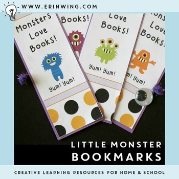 Little Monster Bookmarks