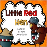 Little Red Hen Literacy and Math Pack for Kindergarten
