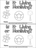 Living or Nonliving Things Emergent Reader for Kindergarte