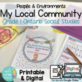 Local Community & Community Helpers: Grade 1 Ontario Socia
