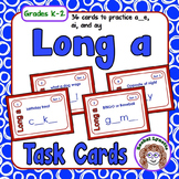 Long A Task Cards: 36 cards to practice a__e, ai, and ay