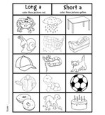 [Coloring] Long And Short Vowels Packet #1