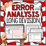 Long Division Error Analysis  { Division Center, Enrichmen