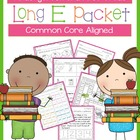 Long E Packet for Kindergarten and First Grade