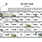 "Long O ""Oh No Toad!"" board game"