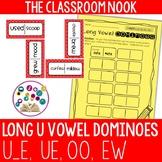 Long U Dominoes with Recording Sheet (ue, u_e, oo, ew)