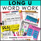 Long U Word Work Activities