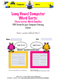 Computer Word Sorts: Long Vowel Three Letter Word Families