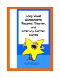 Long Vowel Reader's Theater, Literacy Centers, and 23 Worksheets