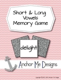Long and Short Vowel Sounds Matching Memory Game
