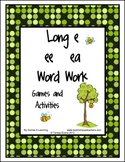 Long e Word Work Games and Activities